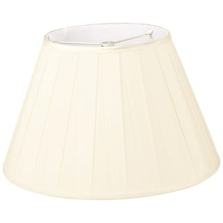 Royal Designs Wide Pleat Empire Designer Lamp Shade, Eggshell, 10 x 18 x 12