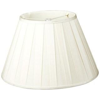 Royal Designs Wide Pleat Empire Designer Lamp Shade, White, 7.5 x 14 x 9