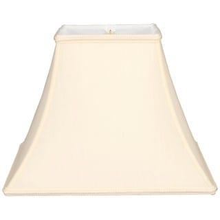 Royal Designs Square Bell Designer Lamp Shade, Eggshell, 7 x 14 x 11.5