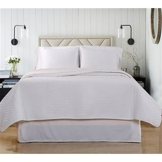 Luxury Quilted Coverlet & Separate Sham Set