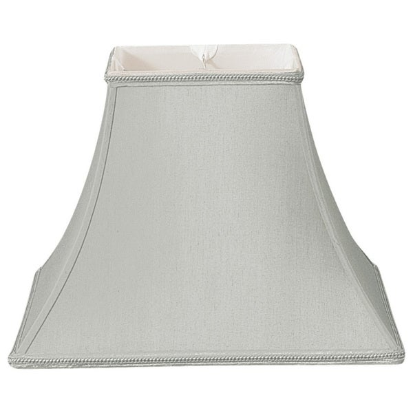 Royal Designs Square Bell Designer Lamp Shade, Gray, 6 x 12 x 10.5
