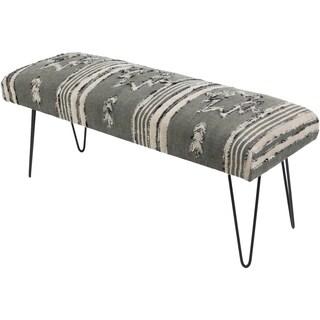 Mahalia Charcoal Boho Cotton Bench