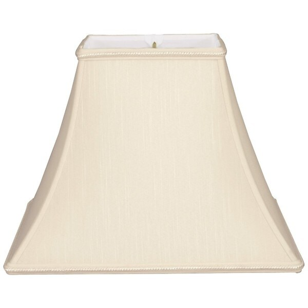 Royal Designs Square Bell Designer Lamp Shade, Beige, 6 x 12 x 10.5