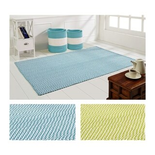 Zig Zag Rug and Stripe Basket - 4' x 6'