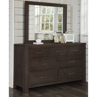 Highlands 7 Drawer Dresser with Mirror, Espresso