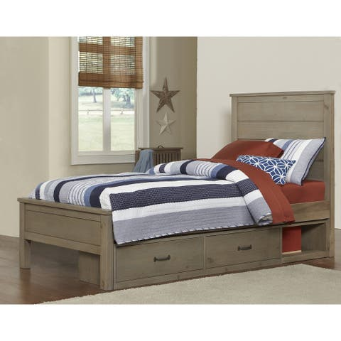 Hillsdale Highlands Alex Twin Bed with Storage, Driftwood