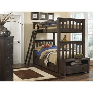 Hillsdale Highlands Harper Twin over Twin Bunk with Trundle, Espresso