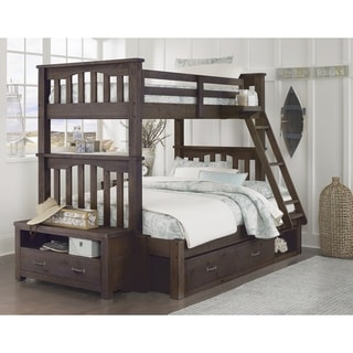 Hillsdale Highlands Harper Twin over Full Bunk with Storage, Espresso