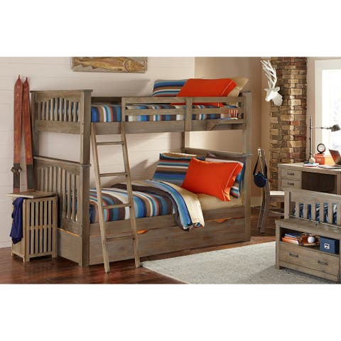 Hillsdale Highlands Harper Full over Full Bunk with Trundle, Drfitwood