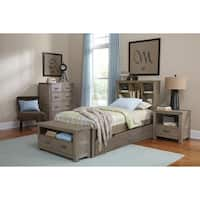Hillsdale Highlands Twin Bookcase Bed with Trundle, Driftwood