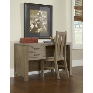 Highlands Collection Driftwood Desk And Hutch Free