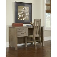 NE Kids Highlands Collection Rustic Driftwood Pine Desk and Chair Set