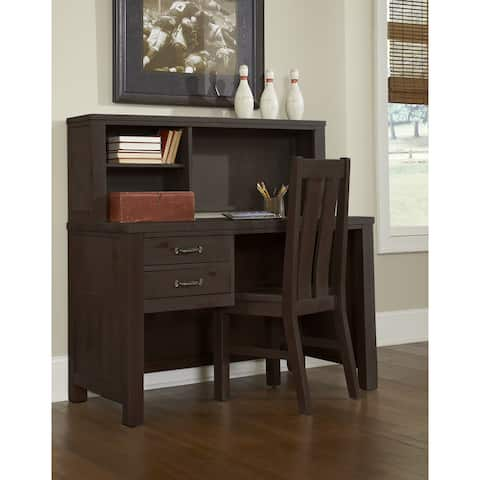 Highlands Desk with Hutch and Chair, Espresso