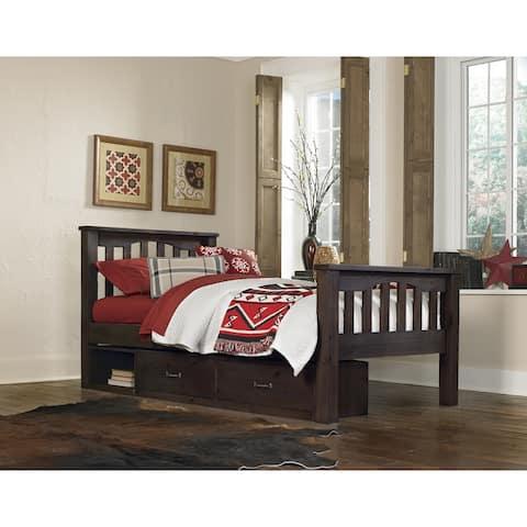 Hillsdale Highlands Harper Twin Bed with Storage, Espresso