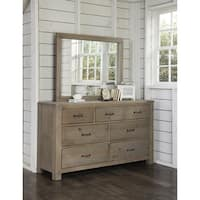 Highlands 7 Drawer Dresser with Mirror, Driftwood