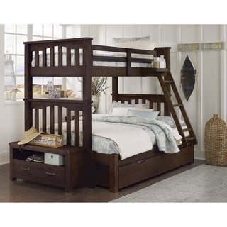 Hillsdale Highlands Harper Twin over Full Bunk with Trundle, Espresso