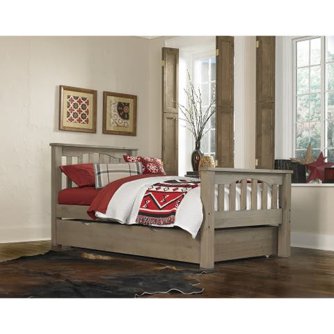 Hillsdale Highlands Harper Twin Bed with Trundle, Driftwood