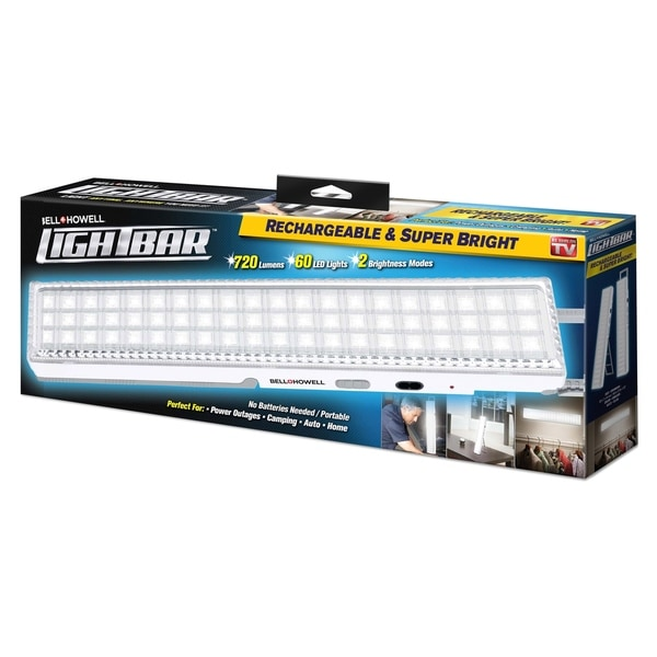 Bell + Howell Lightbar Super Bright 60 LEDs Rechargeable Bar. Opens flyout.