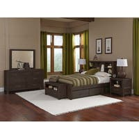 Hillsdale Highlands Full Bookcase Bed with Two Storage units, Espresso