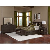 Hillsdale Highlands Full Bookcase Bed with Trundle, Espresso