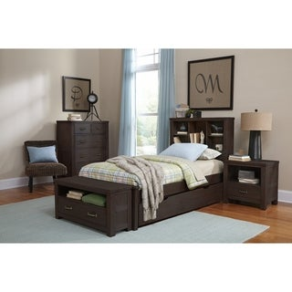 Hillsdale Highlands Twin Bookcase Bed with Trundle, Espresso