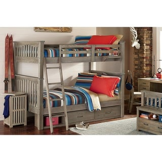 Hillsdale Highlands Harper Full over Full Bunk with Storage, Drfitwood