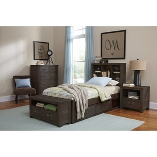 Hillsdale Highlands Twin Bookcase Bed with Storage, Espresso