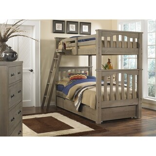 Hillsdale Highlands Harper Twin/Twin Bunk with Trundle, Driftwood