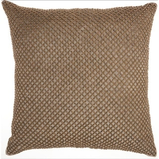 Inspire Me! Home Décor Beaded Lattice Taupe Throw Pillow by Nourison (18-Inch X 18-Inch)