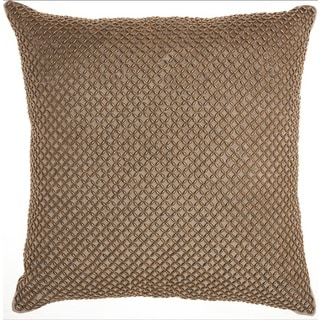 "Inspire Me! Home Décor Beaded Lattice Taupe Throw Pillow  (18"" x 18"") by Nourison"