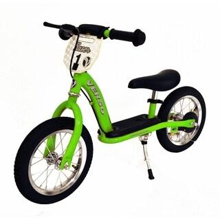 """12"""" Racer Balance Bike w/ Push Bar - Green"""