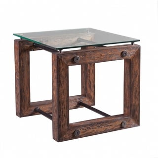 Panama Jack Mango, Metal, and Glass End Table