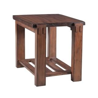 Panama Jack Brown Wood Big Sur End Table