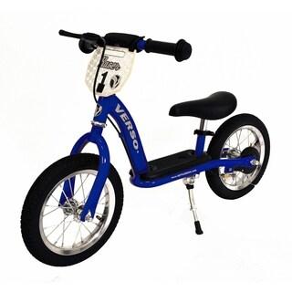 """12"""" Racer Balance Bike w/ Push Bar - Blue"""