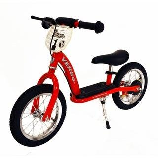 """12"""" Racer Balance Bike w/ Push Bar - Red"""