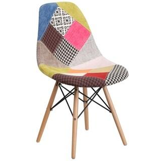 Fabric Side Chair/Wood Base