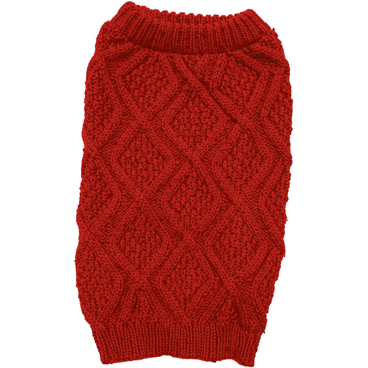 Ethical Pets Fashion Pet Fisherman Sweater (Red Extra Small)