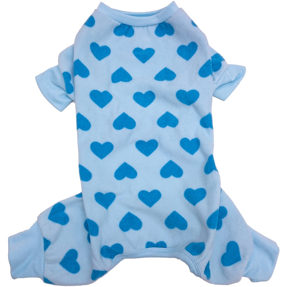 Ethical Pets Fashion Pet Heart Fleece PJs (Blue Small)