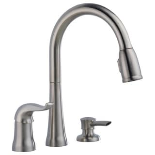 Delta Kate Silvertone Stainless Steel-finished Ceramic Single-handle Kitchen Faucet
