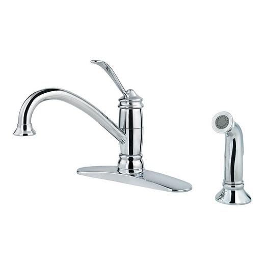 Shop Pfister Brookwood One Handle Polished Chrome Kitchen Faucet