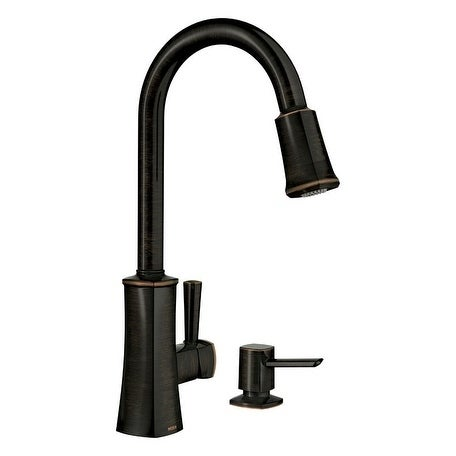 Shop Moen Bridgestone Mediterranean Bronze Metal 1 Handle Pulldown