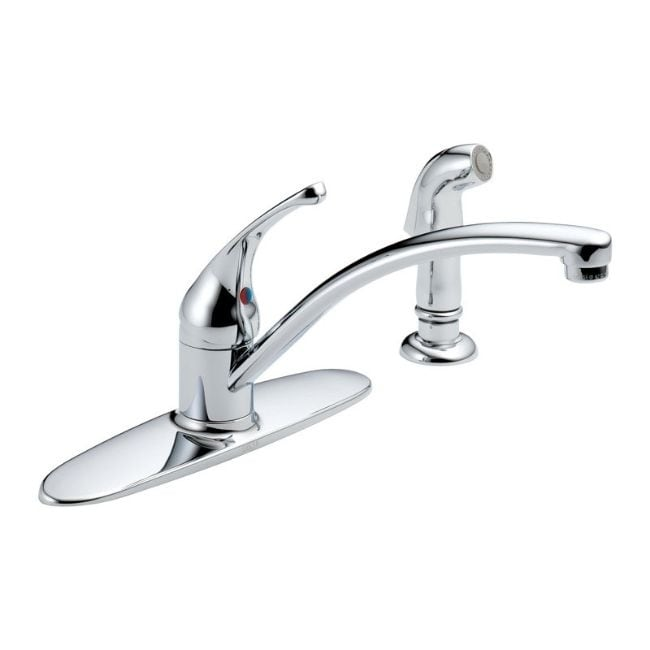 Delta Foundations One Handle Chrome (Grey) Kitchen Faucet...