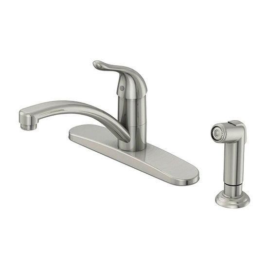 Shop Oakbrook Washerless Cartridge One Handle Nickel Kitchen Faucet