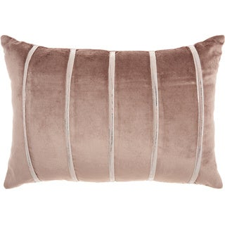 """Inspire Me! Home Décor Pleated Stripes Nude Throw Pillow (14"""" x 20"""") by Nourison"""