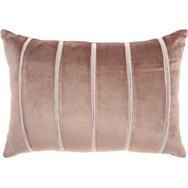 "Inspire Me! Home Décor Pleated Stripes Nude Throw Pillow (14"" x 20"") by Nourison"