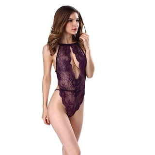 Lingerie for Women Teddy One Piece Lace Babydoll Bodysuit