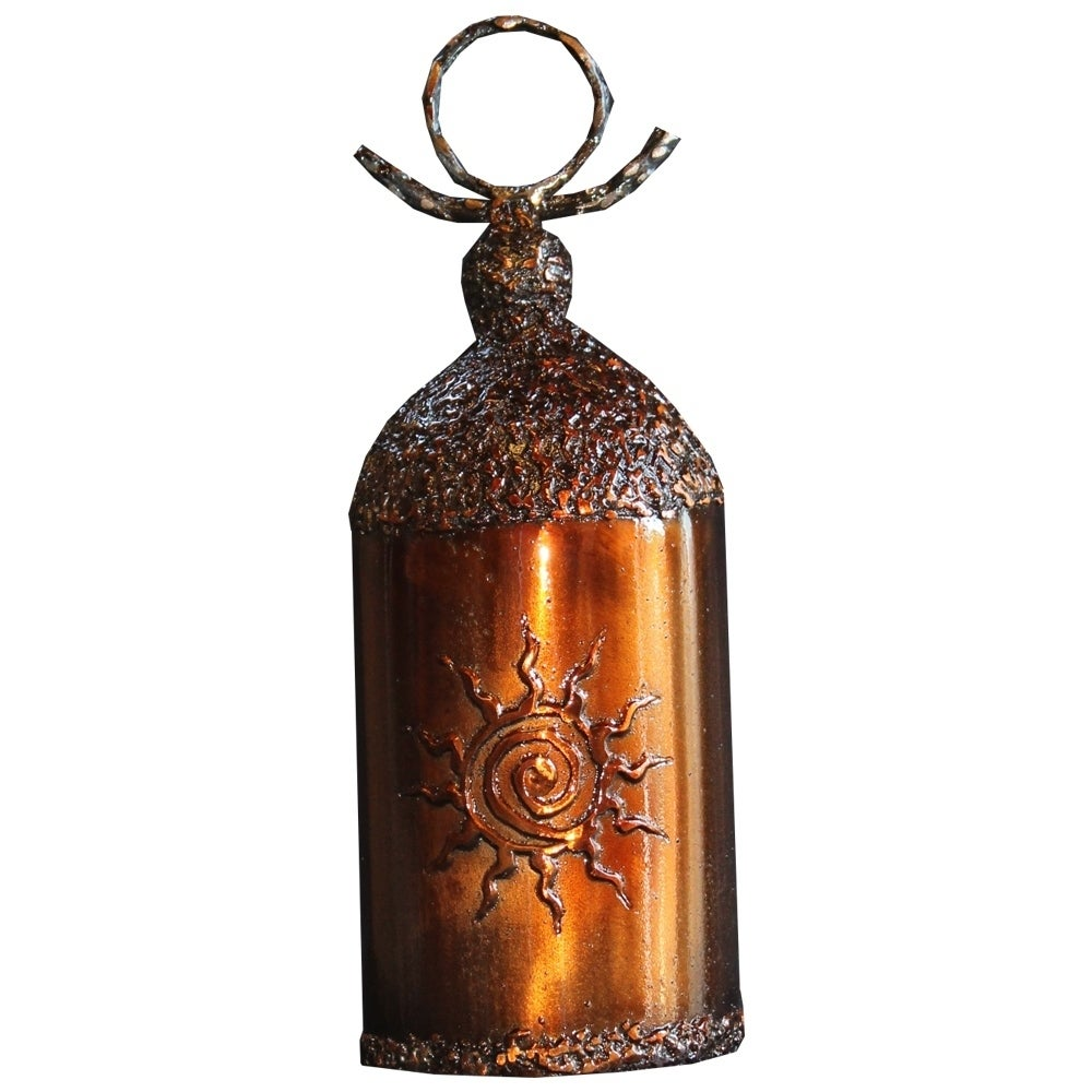 Small Sun Windchime Bell, Brown (Metal), Outdoor Décor