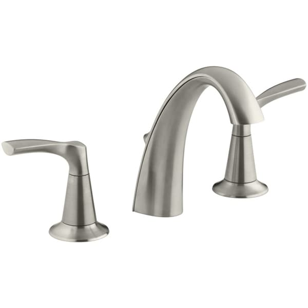 shop kohler mistos widespread lavatory faucet 8in to 16 in brushed nickel free shipping