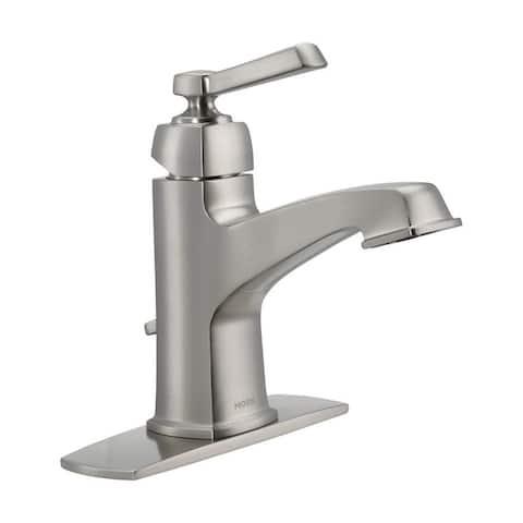 Moen Boardwalk Single Handle Lavatory Faucet 4 in. Brushed Nickel