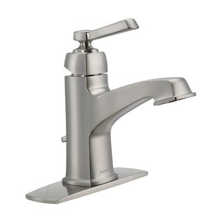 Moen Boardwalk Single Handle Lavatory Faucet 4 in. Brushed Nickel